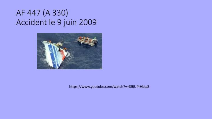 AF 447 (A 330)