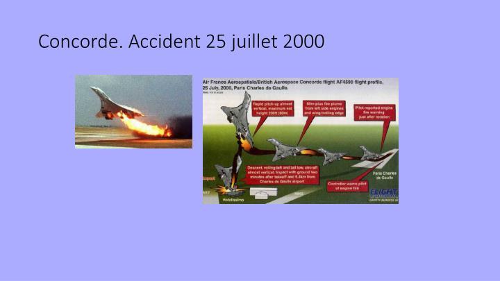 Concorde. Accident 25 juillet 2000