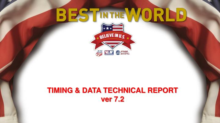 timing data technical report ver 7 2