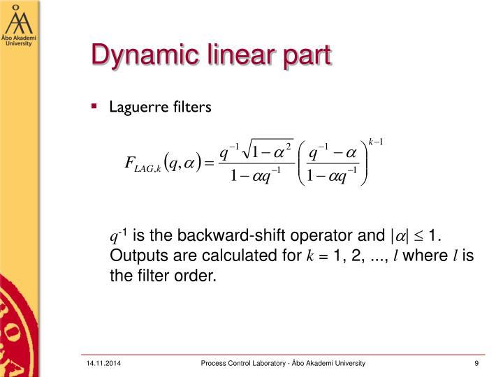Dynamic linear part