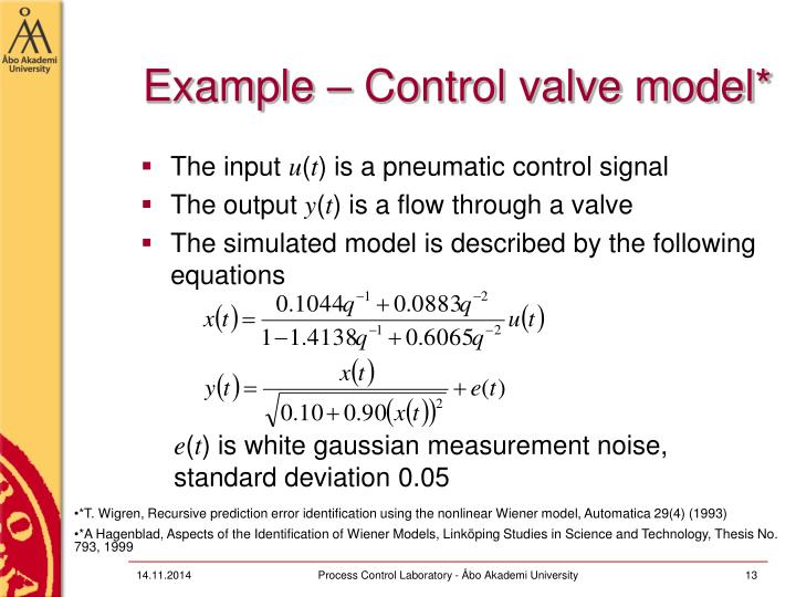 Example – Control valve model*