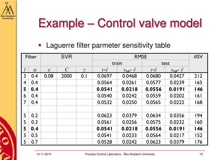 Example – Control valve model