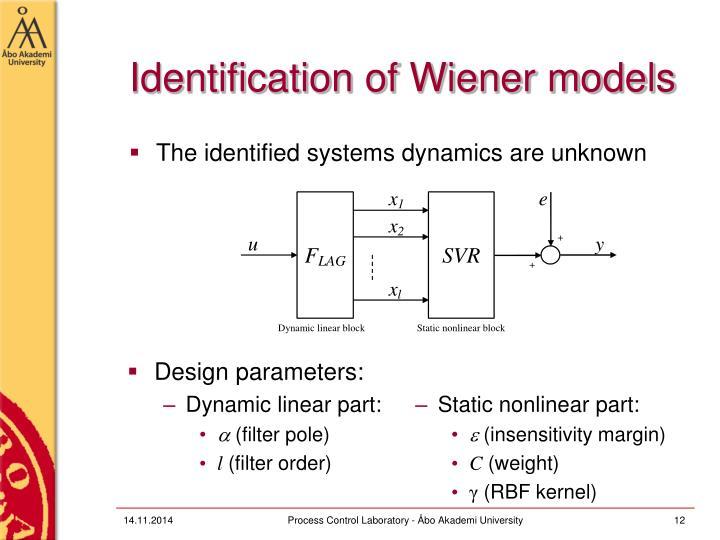 Identification of Wiener models