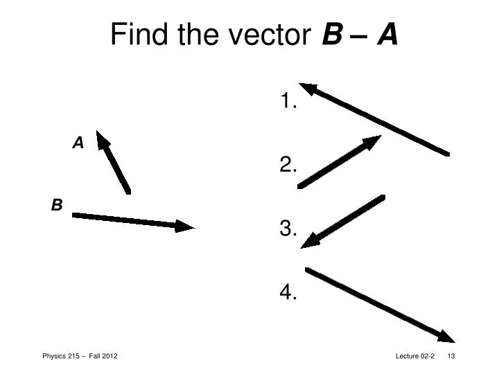 Find the vector