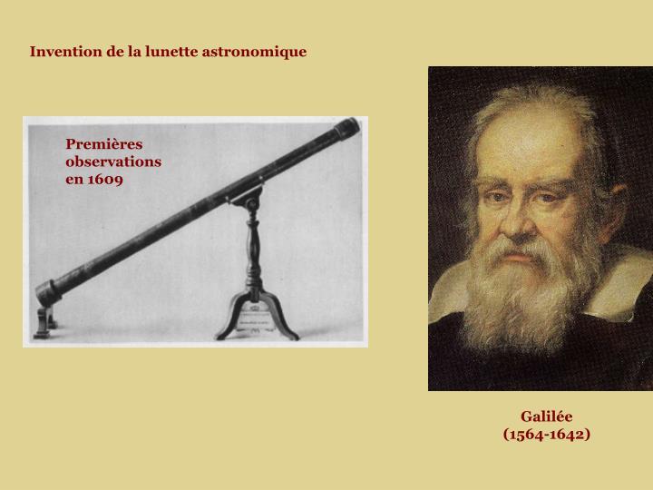 Invention de la lunette astronomique