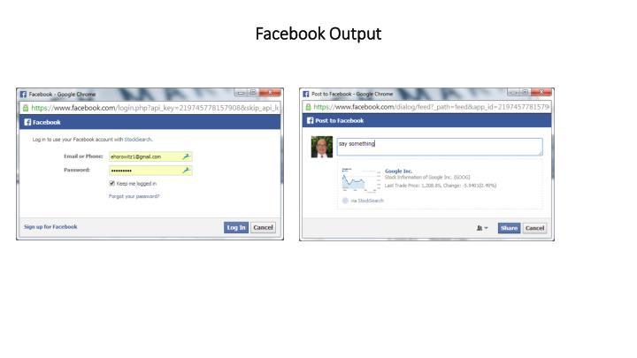 Facebook Output
