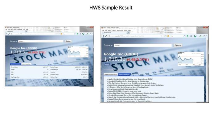 HW8 Sample Result