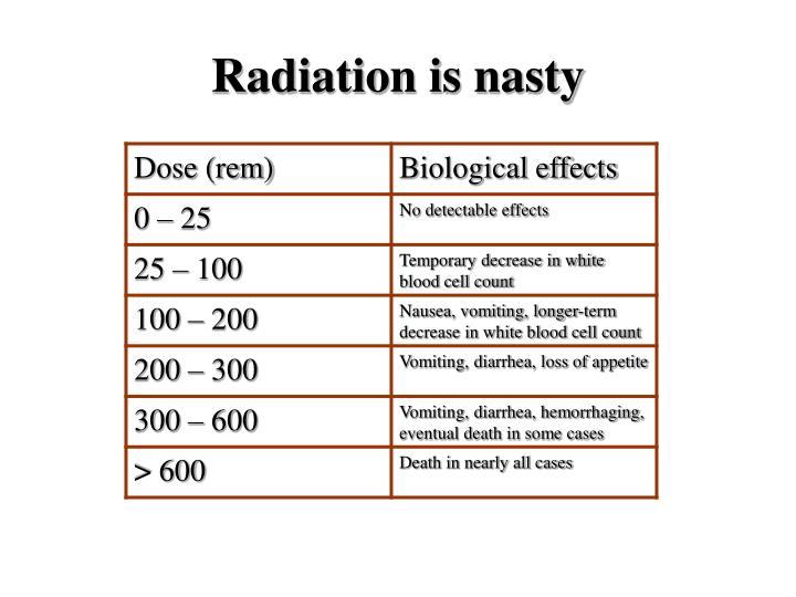 Radiation is nasty