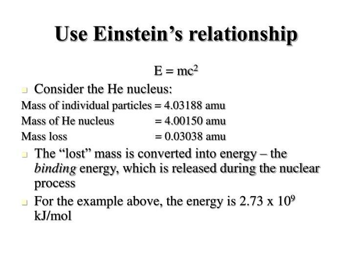 Use Einstein's relationship