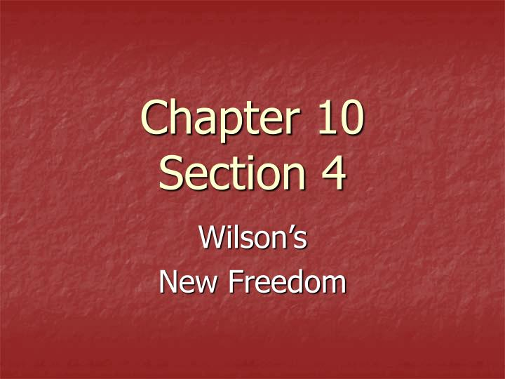 chapter 10 section 4 n.