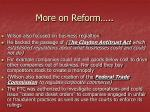 more on reform