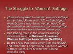 the struggle for women s suffrage