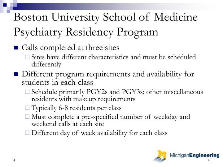 Boston University School of Medicine Psychiatry Residency Program