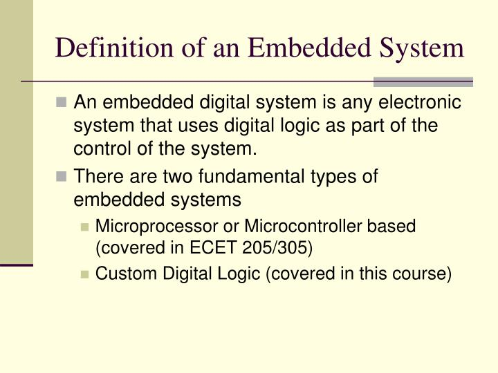 Definition of an Embedded System