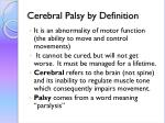 cerebral palsy by definition