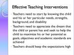 effective teaching interventions