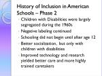 history of inclusion in american schools phase 2