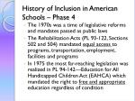 history of inclusion in american schools phase 4