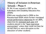 history of inclusion in american schools phase 41