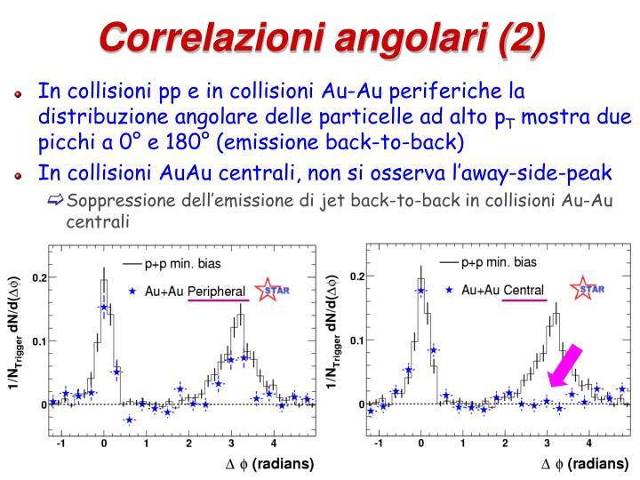 Correlazioni angolari (2)