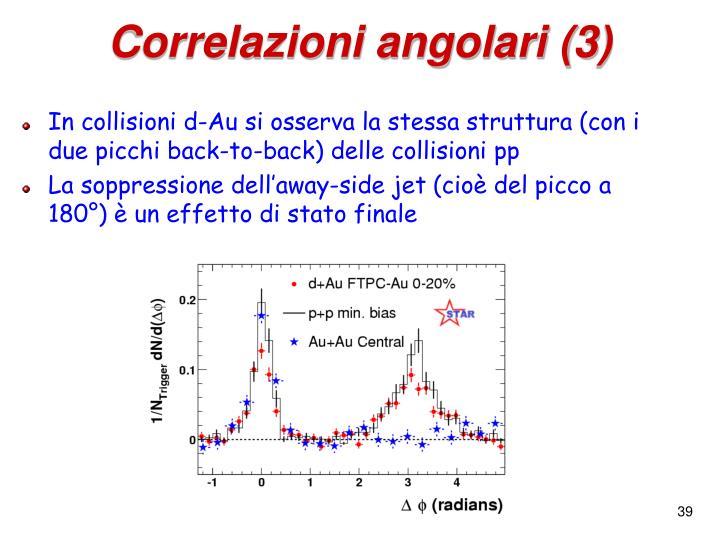 Correlazioni angolari (3)
