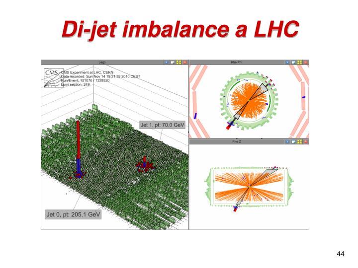 Di-jet imbalance a LHC
