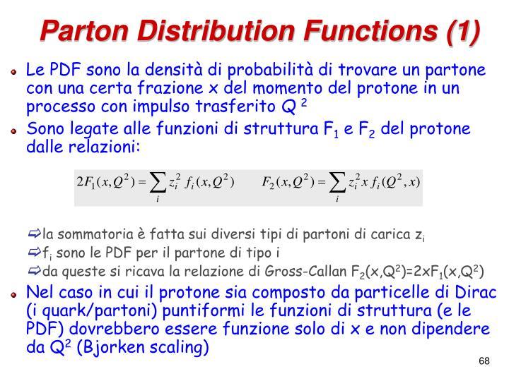 Parton Distribution Functions (1)