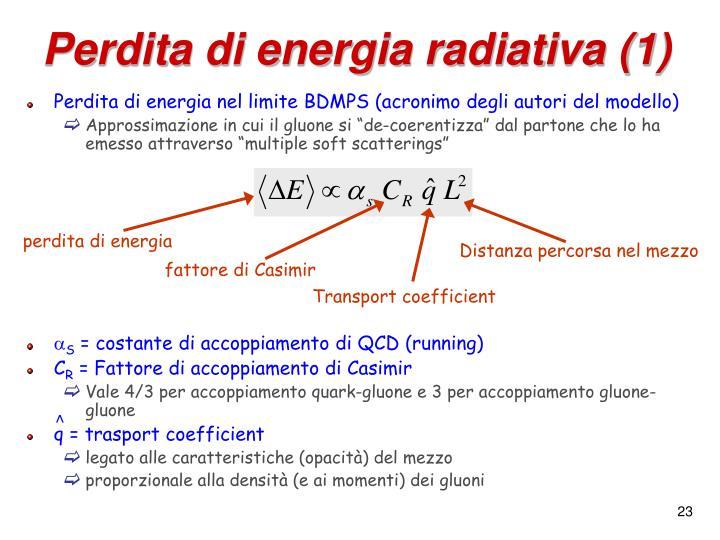 Perdita di energia radiativa (1)