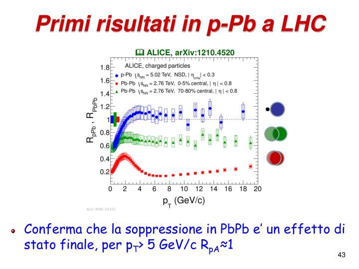 Primi risultati in p-Pb a LHC