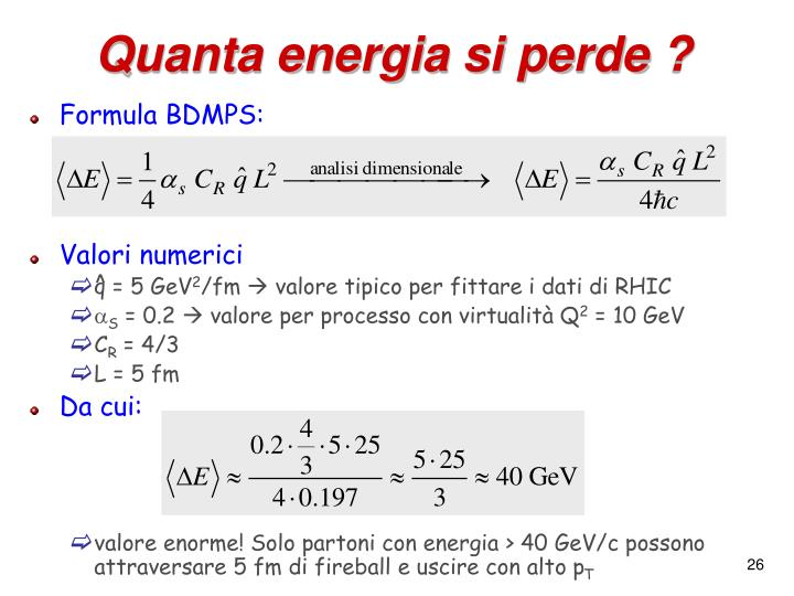 Quanta energia si perde ?