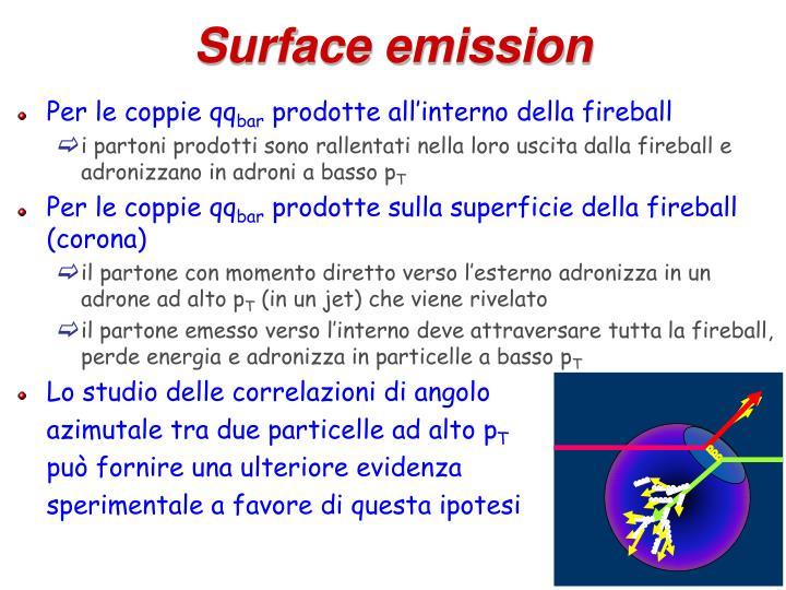Surface emission