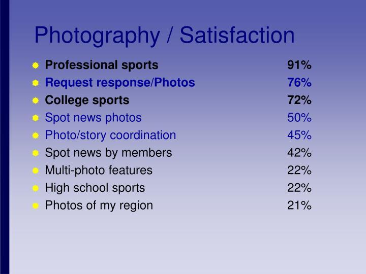 Photography / Satisfaction