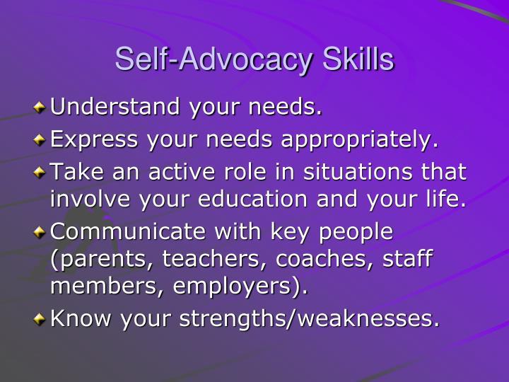 Self-Advocacy Skills