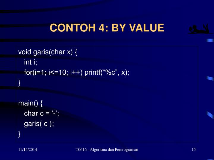 CONTOH 4: BY VALUE