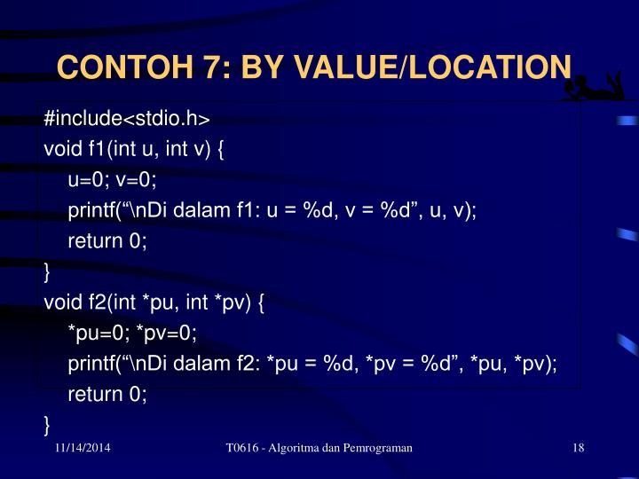 CONTOH 7: BY VALUE/LOCATION