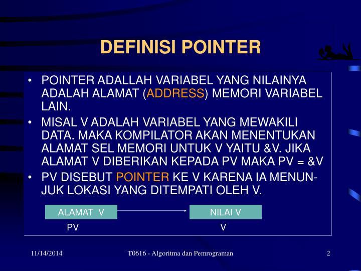 Definisi pointer