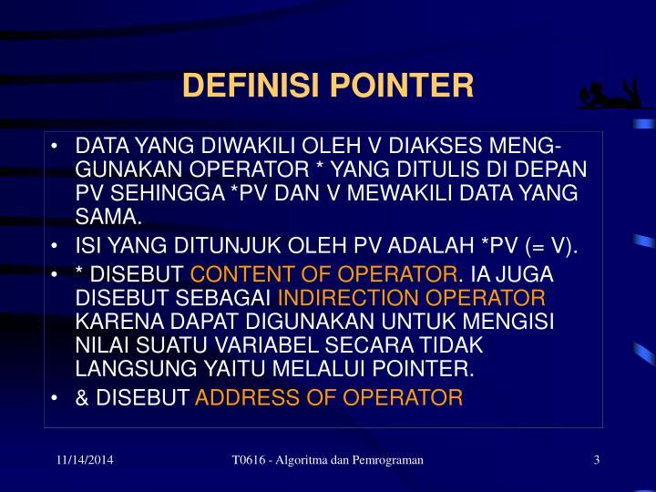 Definisi pointer1