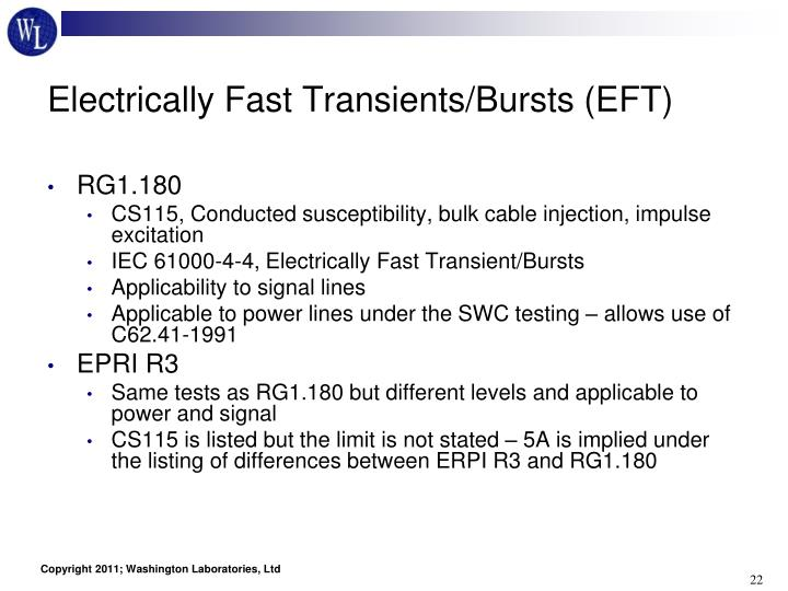Electrically Fast Transients/Bursts (EFT)