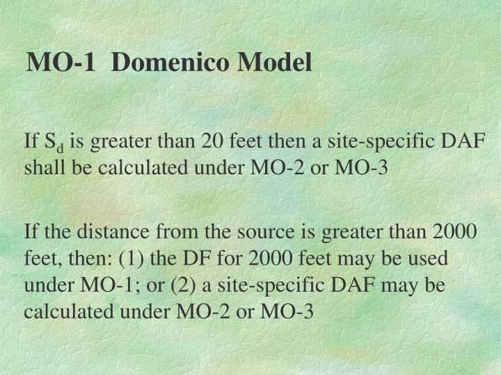 MO-1  Domenico Model