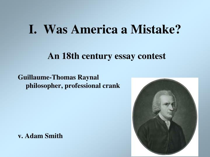 I was america a mistake