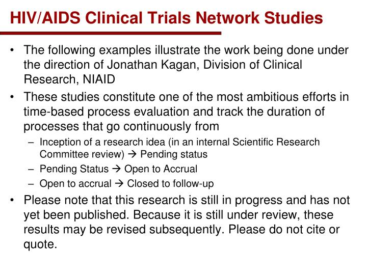 HIV/AIDS Clinical Trials Network Studies