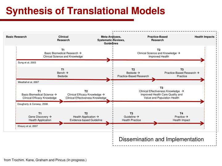 Synthesis of Translational Models
