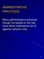 administrative practices
