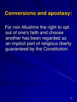 conversions and apostasy