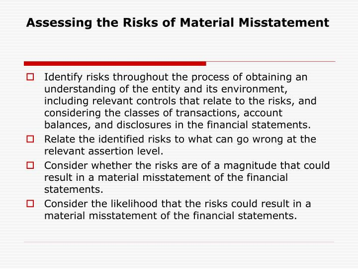 Assessing the Risks of Material Misstatement