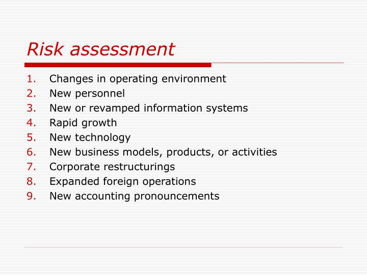 Risk assessment