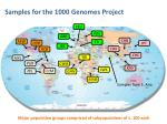 samples for the 1000 genomes project