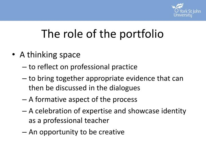 The role of the portfolio