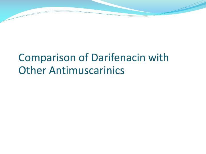 Comparison of Darifenacin with Other Antimuscarinics