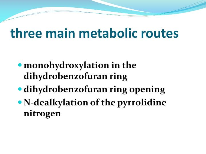 three main metabolic routes